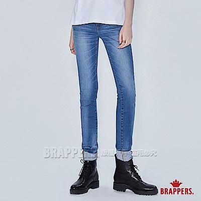 BRAPPERS 女款 美腳ROYAL系列-低腰彈性skinny窄管褲-藍