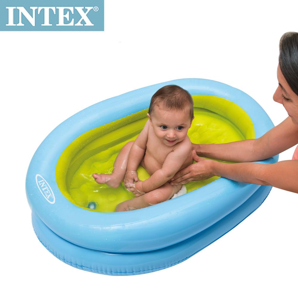 INTEX 外出用-幼兒充氣浴盆/浴池-附送打氣筒(48421)