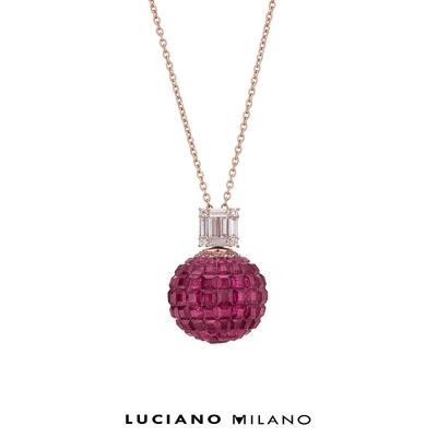 LUCIANO MILANO 復古莓莓純銀墜飾(獨)
