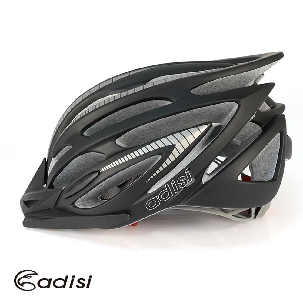 ADISI 自行車帽 CS-6000 霧黑-銀灰