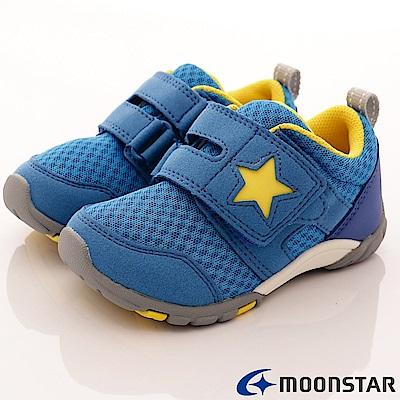 日本月星頂級童鞋 機能抗菌款 TW1665藍(中小童段)