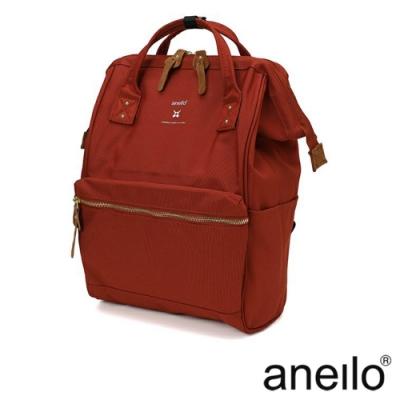 anello RE:MODEL 防潑水經典口金後背包 橘紅色 Regular