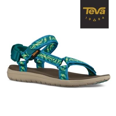 【TEVA】原廠貨 女 Sanborn Universal 輕量織帶涼鞋/雨鞋/水鞋(圖紋湖水藍-TV1015160TDLML)