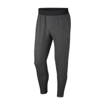 Nike 長褲 Yoga Pants 運動休閒 男款 瑜珈 運動休閒 輕量 簡約 棉質 穿搭 黑 灰 CU6784010