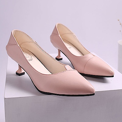 KEITH-WILL時尚鞋館 時尚元素暗香疏影細跟鞋-粉色