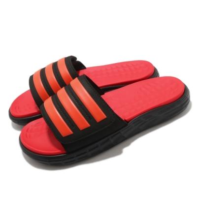 adidas 拖鞋 Duramo SL Slide 套腳 男鞋 愛迪達 基本款 輕便 穿搭 涼拖鞋 紅 黑 FY8787