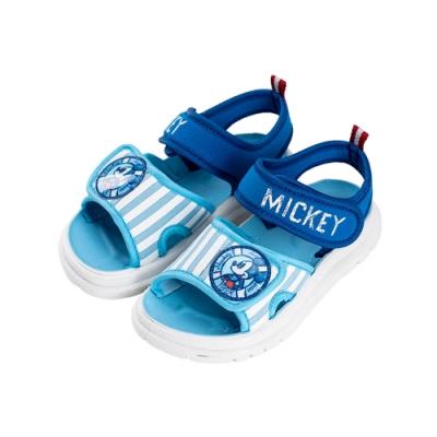 迪士尼童鞋  米奇  海軍風彈性布涼鞋-水