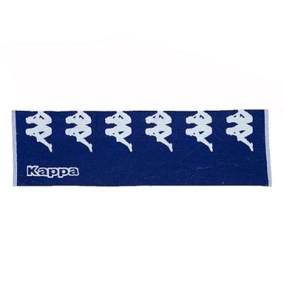KAPPA 時尚運動提花毛巾-義大利藍 白