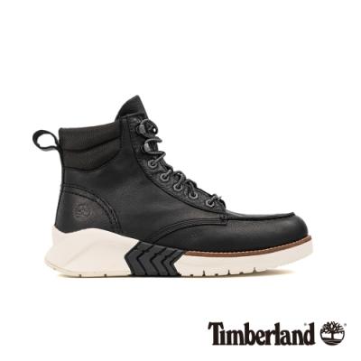 Timberland 男款地球英雄黑色皮革運動靴|A27W1