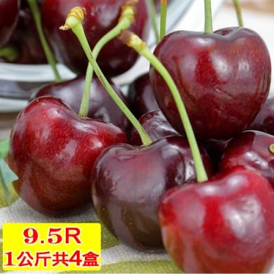 愛蜜果 智利櫻桃禮盒1KG共4盒 (9.5R/XJ/SJD)