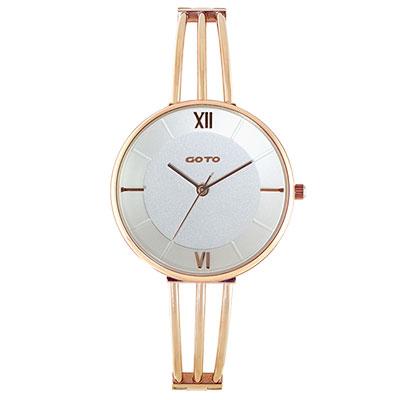 GOTO Marine 海洋系列時尚手錶-IP玫x白/33mm