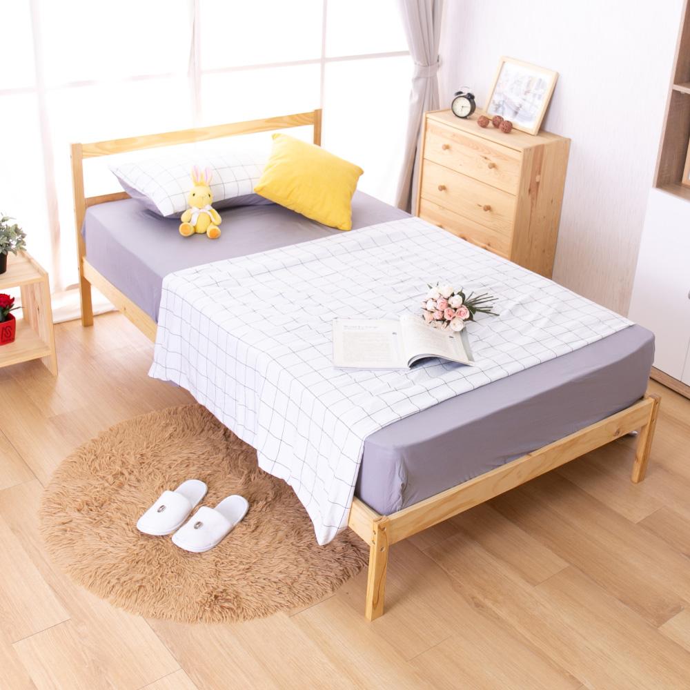AS-偉特3.5尺實木單人床-淺色DIY-111x193x75cm @ Y!購物
