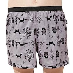SOLIS 童話森林系列120-150寬鬆印花四角男童褲(都市灰)