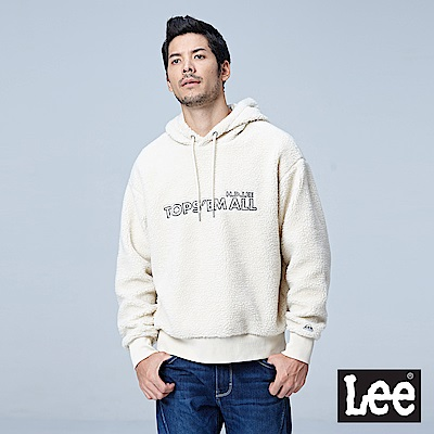 Lee 毛尼長袖連帽厚TEE/RG