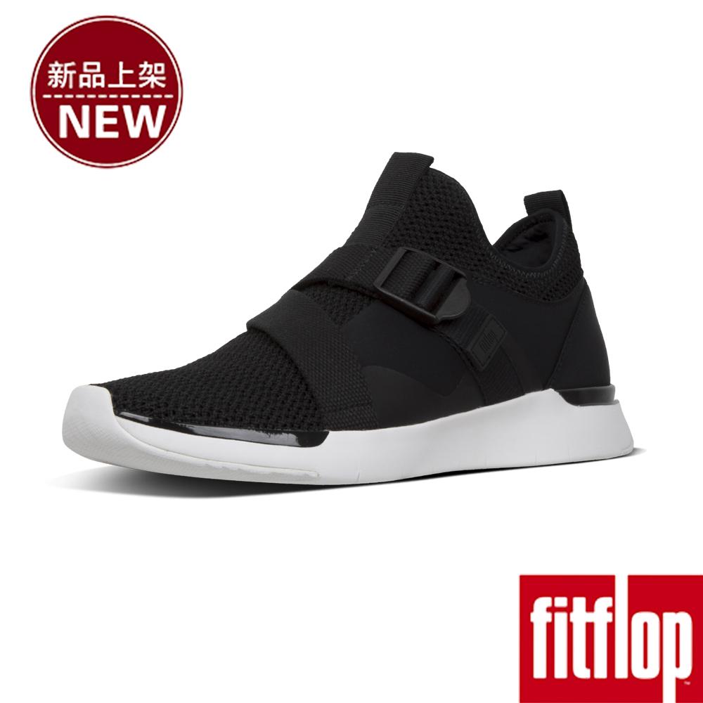 FitFlop FLEXKNIT V-STRAP SNEAKERS-黑色