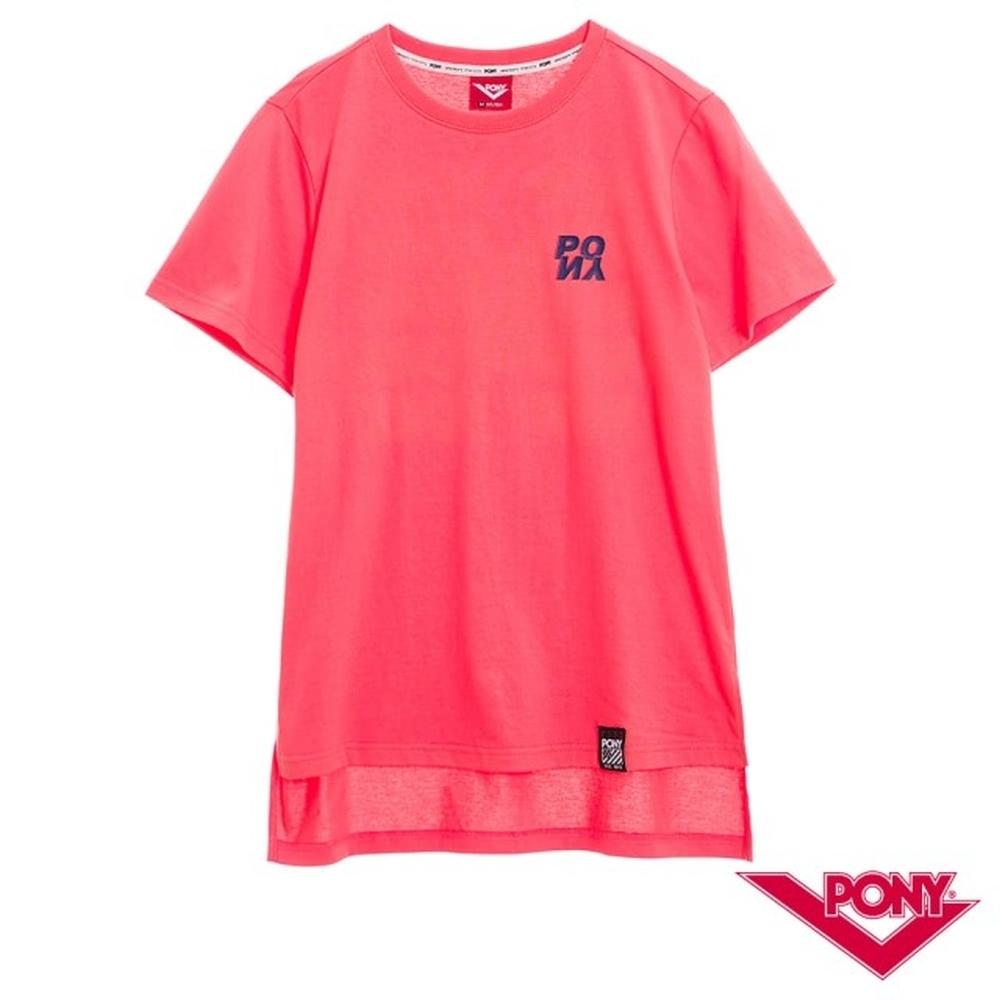【PONY】純棉直筒短袖上衣T恤 女款