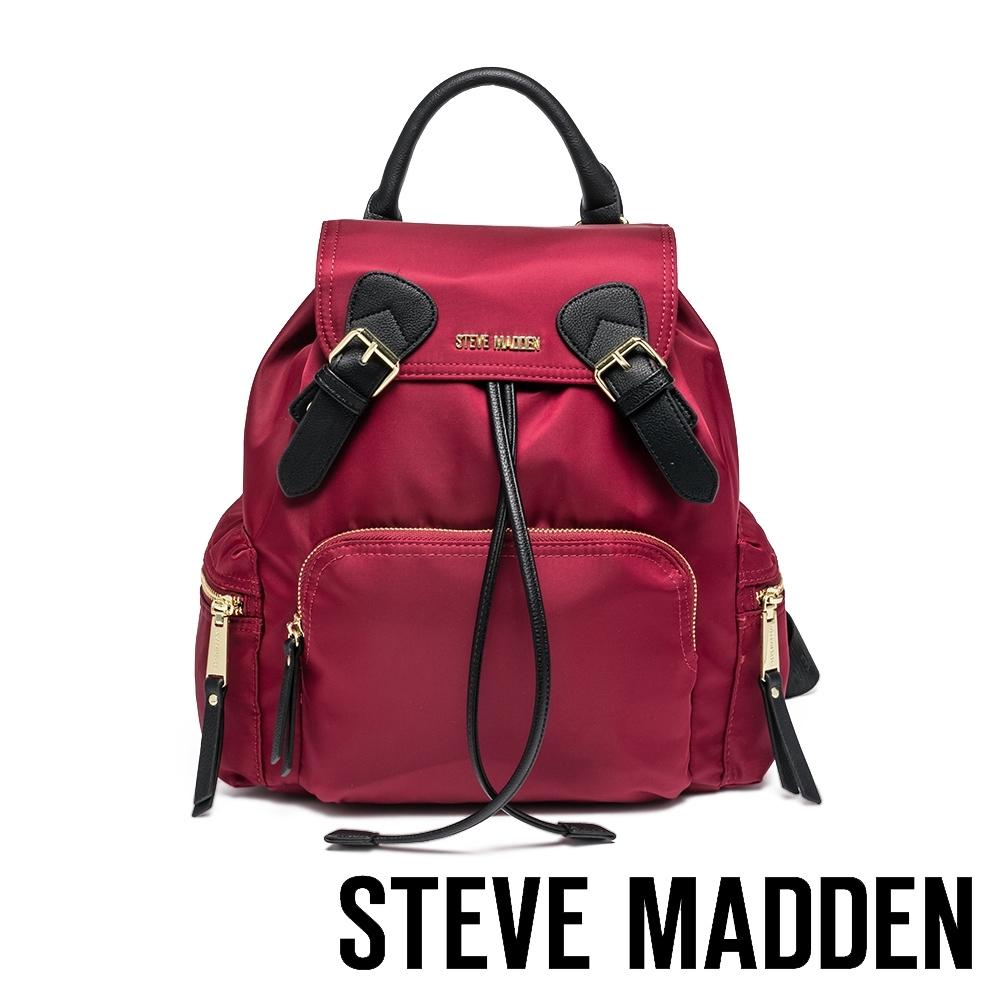 STEVE MADDEN-BSOLLY 時尚有型 超大容量軍旅後背包-紅色