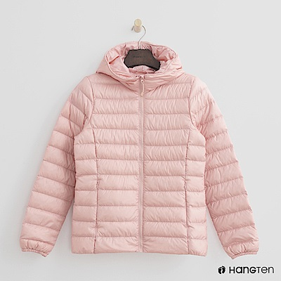 Hang Ten - 女裝 - ThermoContro-立領連帽輕羽絨外套-粉