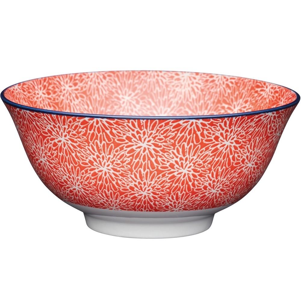 《KitchenCraft》陶製餐碗(花簇紅)
