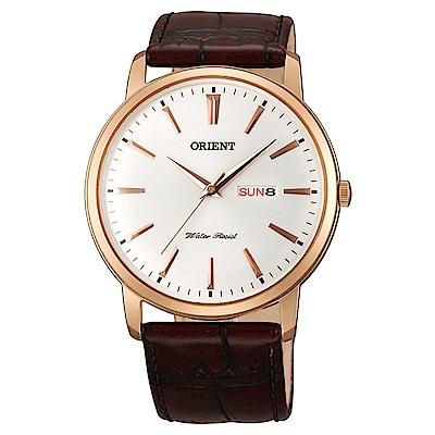 ORIENT  金燦時尚石英腕錶(FUG1R005W6)-白面x40mm