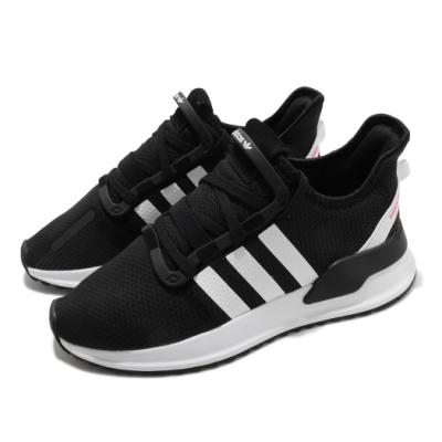 adidas 慢跑鞋 U Path Run J 女鞋 愛迪達 三線 襪套式 運動休閒 黑 白 G28108