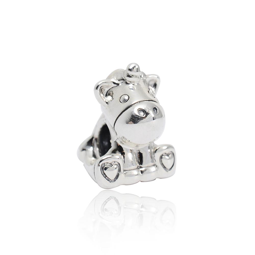 Pandora 潘朵拉 可愛獨角獸 純銀墜飾 串珠