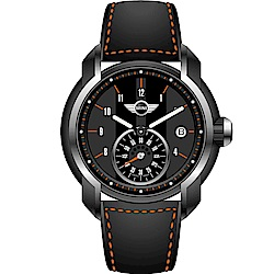 MINI Swiss Watches簡約休閒腕錶(MINI-45)-黑x灰/42mm