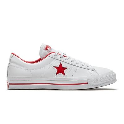 CONVERSE ONE STAR OX 中 休閒鞋 皮革紅白 167326C