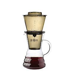 FUSHIMA富島 台灣製冰魔滴式咖啡壺750ML(附丸型濾紙20入)