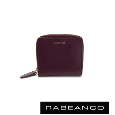 RABEANCO 迷時尚系列撞色拉鍊短夾 紫