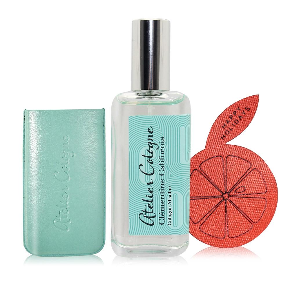 Atelier Cologne 歐瓏香水 加州盛夏精醇古龍水 Clementine California 30ml+原廠手工皮套+質感貼紙