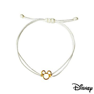 Disney迪士尼系列金飾 黃金/中國繩手鍊-經典米奇款