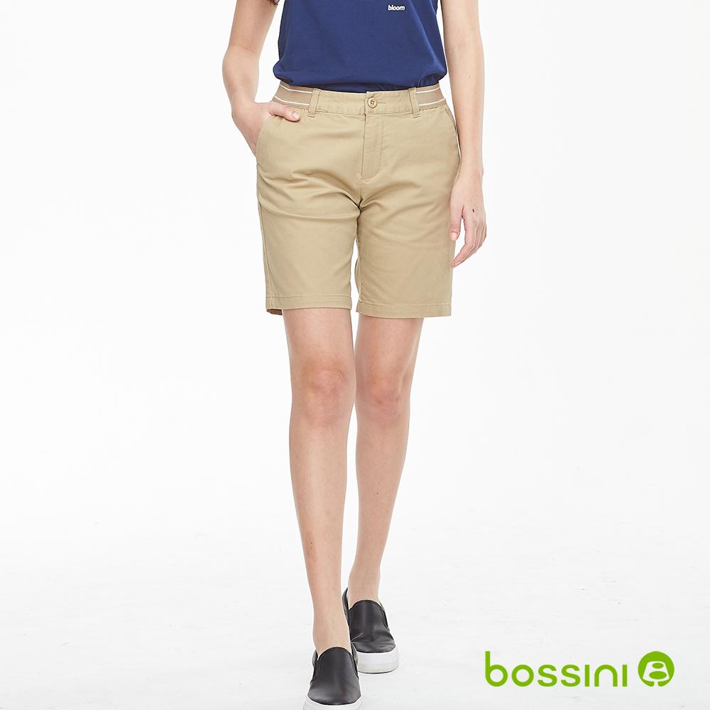 bossini女裝-素色卡其短褲02深褐