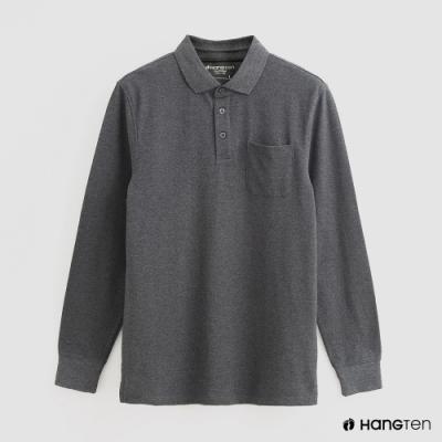 Hang Ten - 男裝 - 純色口袋POLO衫 - 灰