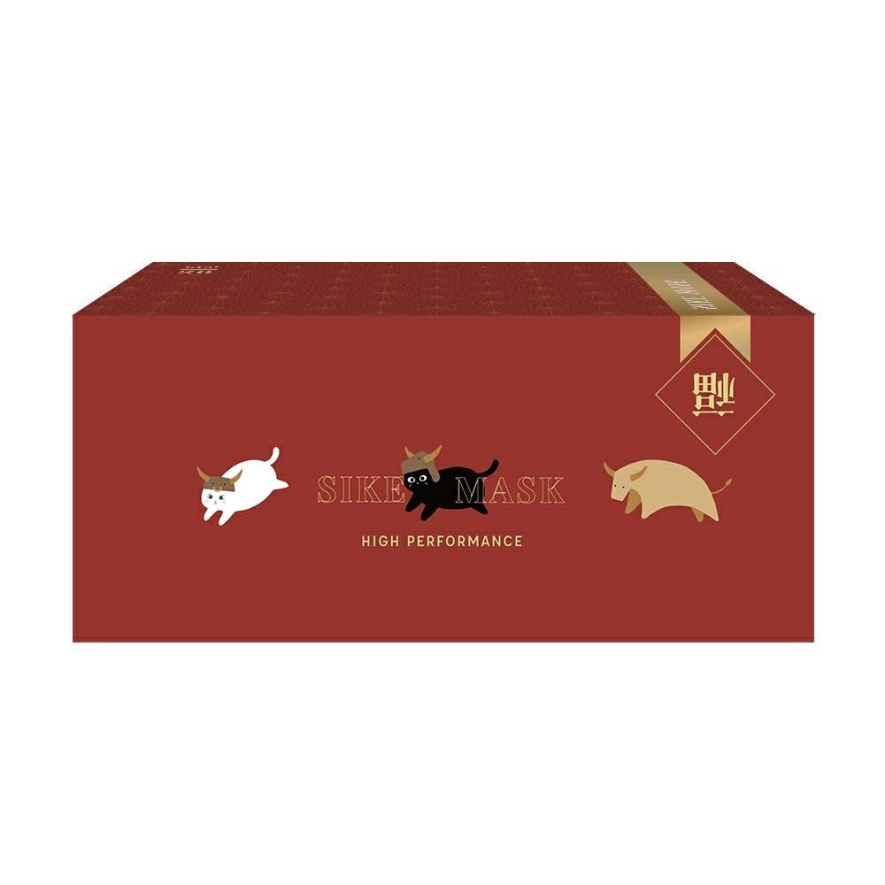 德泰 野牛貓咪系列 成人防護口罩(2款各15入)共30入/盒