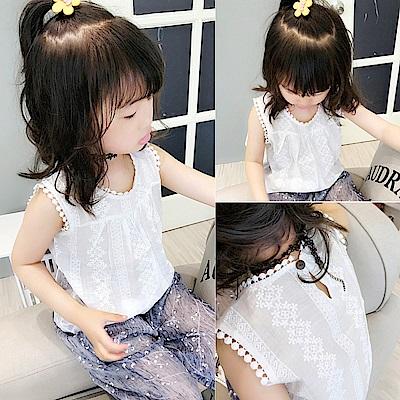 小衣衫童裝   小女生清甜蕾絲棉紗背心1070527