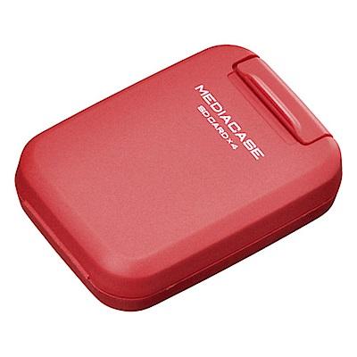 HAKUBA 4片裝SD記憶卡盒(紅/HA371284)