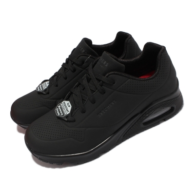 Skechers 休閒鞋 Uno SR 防滑 工作鞋 女鞋 氣墊 耐油 光滑耐用合成鞋面 黑 108021-BLK