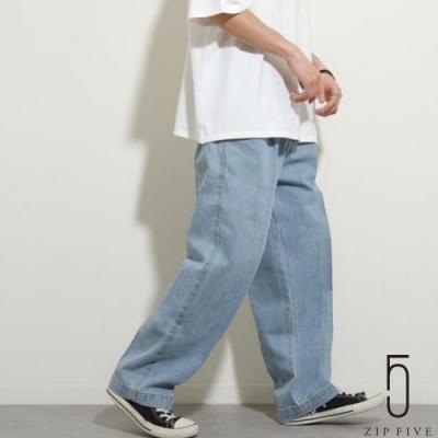 ZIP日本男裝 UNCORD 丹寧寬褲氣球褲 立體褶線 (6色)