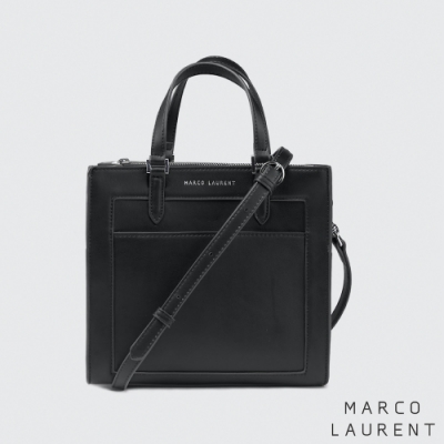 MARCO LAURENT Frame 造型拉鍊手提肩背包 - 黑色