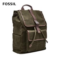 FOSSIL BUCKNER帆布背包 (可裝15吋筆電)- 墨綠色 MBG9437300