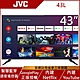 JVC 43吋 FHD Google認證連網液晶顯示器 43L product thumbnail 1