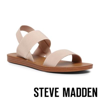 STEVE MADDEN-ROMA 寬版彈性帶繞踝涼鞋-粉色