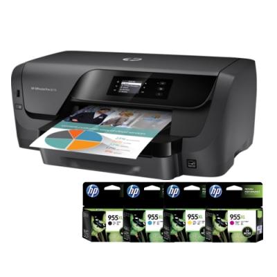 HP OfficeJet Pro 8210 A4商用噴墨印表機+HP 955XL一黑三彩墨水匣