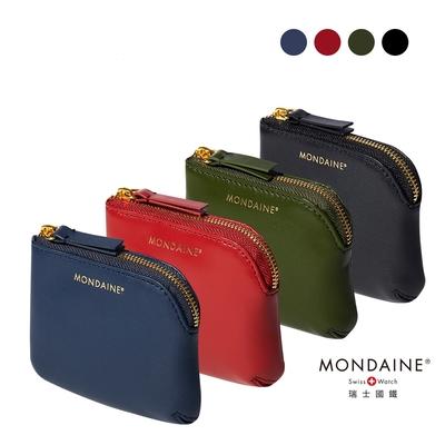 MONDAINE 瑞士國鐵經典燙金2.0紀念版NAPPA零錢包(金拉鍊)-四色任選