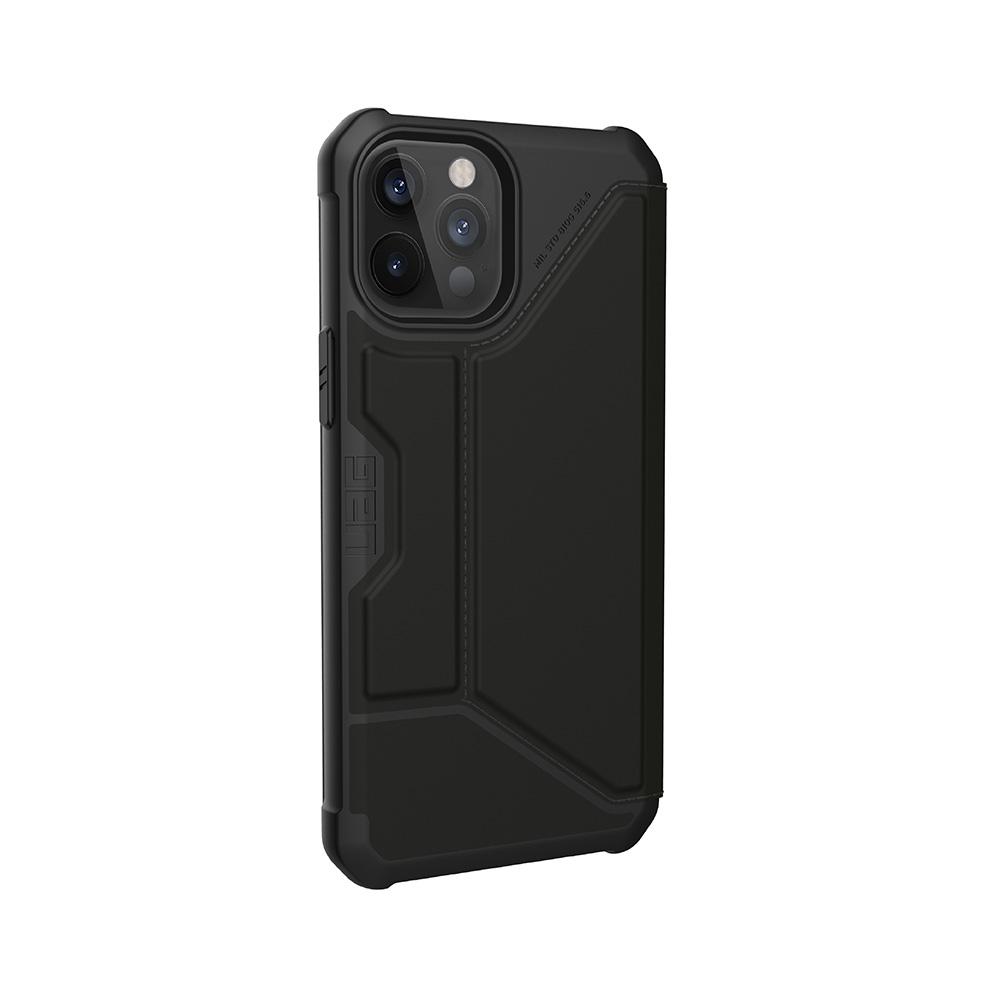 UAG iPhone 12/ 12 Pro 翻蓋式耐衝擊保護殼-極簡黑
