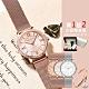 【HANNAH MARTIN】羅馬刻度女士鑲鑽錶-豪華禮盒組-手環+精美項鍊隨機送(HM-1072) product thumbnail 1