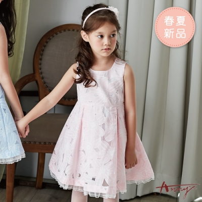 Annys安妮公主-生如夏花傘狀裙擺春夏款背心洋裝*9126粉紅