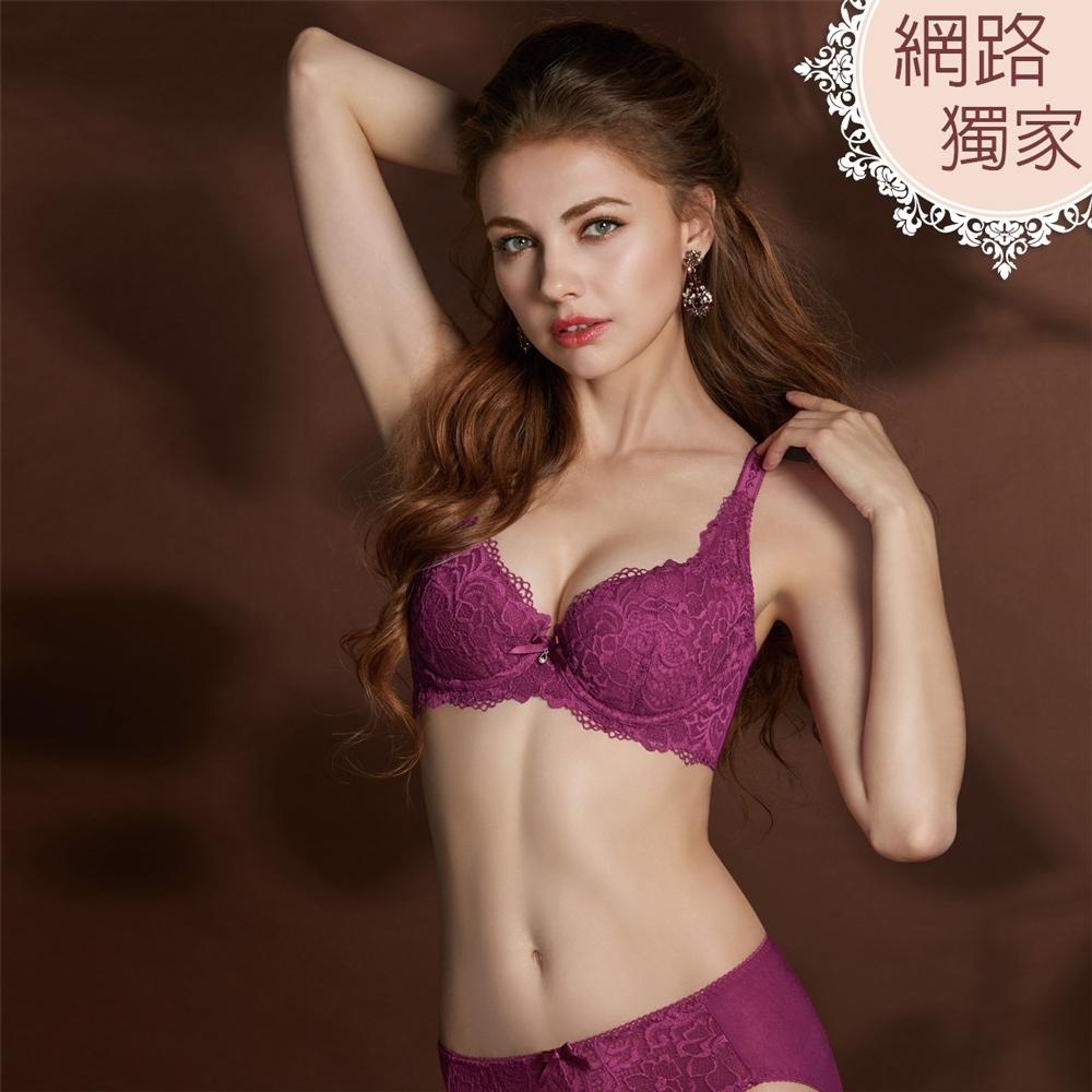曼黛瑪璉 Hibra大波內衣  E-F罩杯(紫莓紅)
