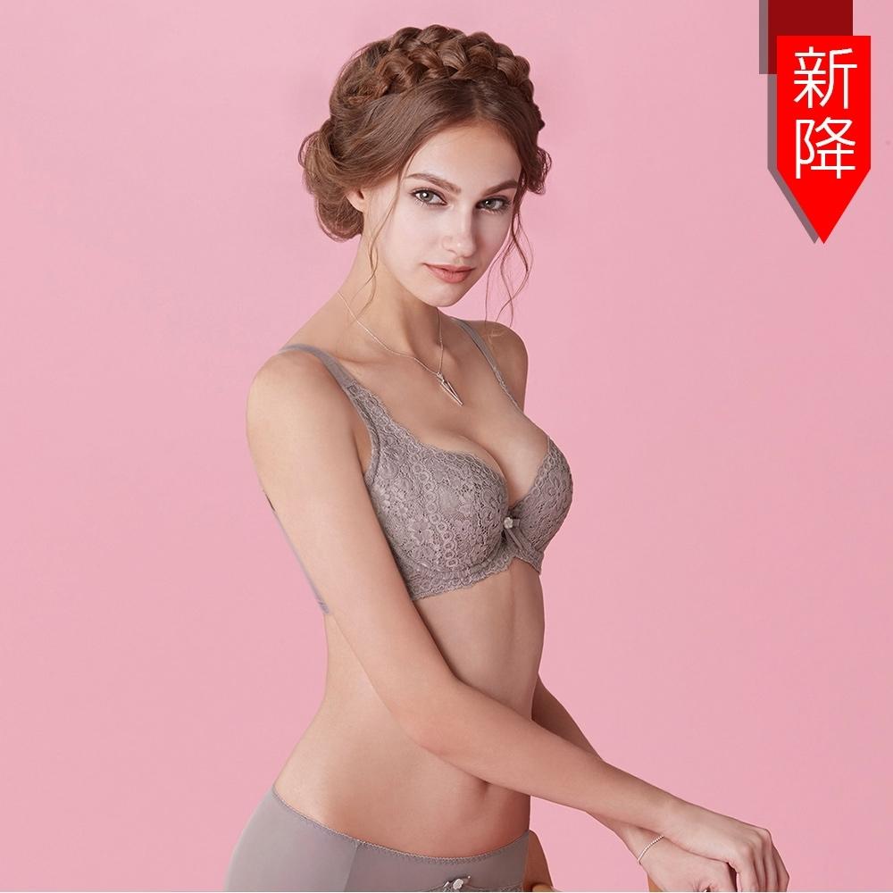 曼黛瑪璉 包覆提托Hibra大波內衣  F-H罩杯(華貴紫)